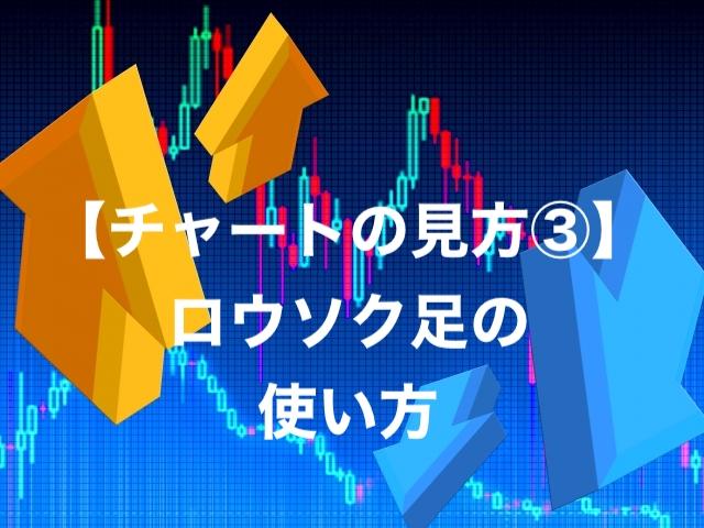 【チャートの見方③】ロウソク足の使い方を覚えよう!【仮想通貨・FX】