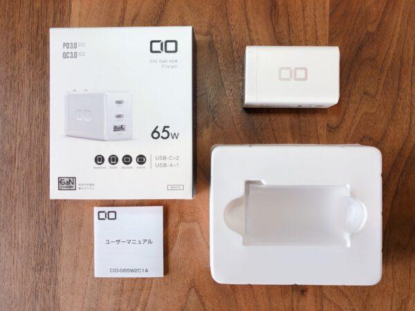 おすすめの充電器【CIO-G65W2C1A】